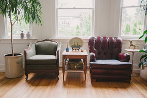 Leather & Pendleton Club Chair