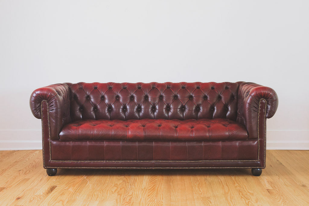 Vintage Leather Chesterfield Homestead Seattle