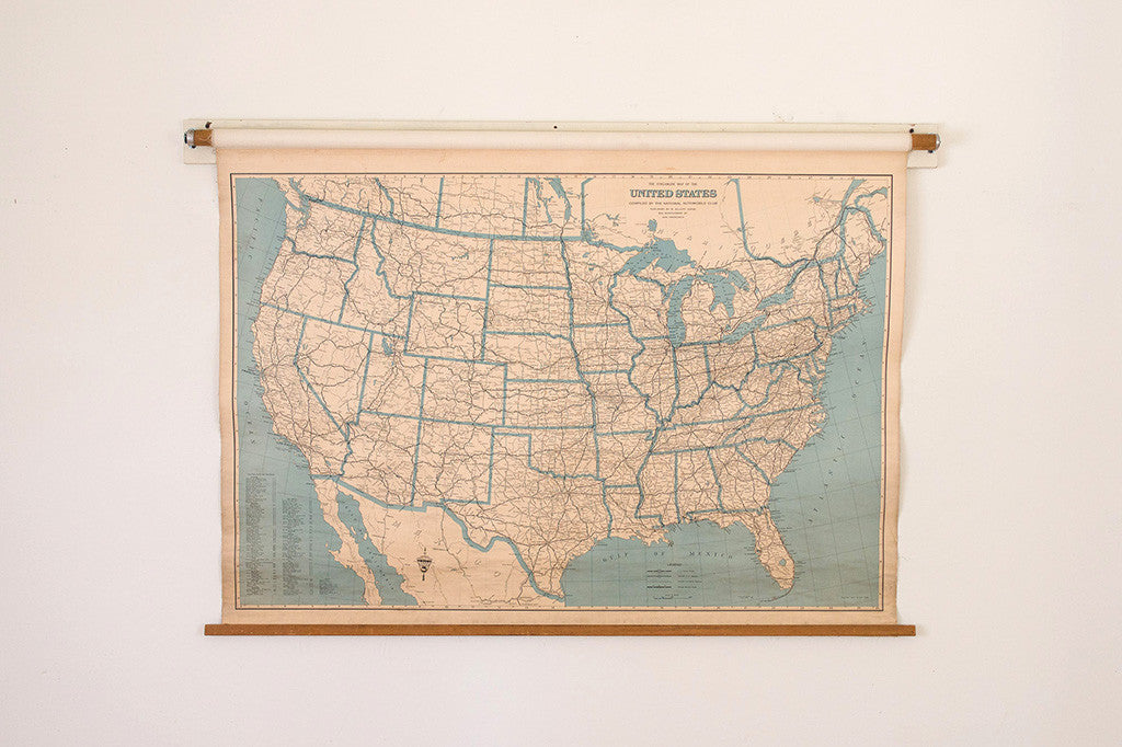 US Highway Schoolhouse Map