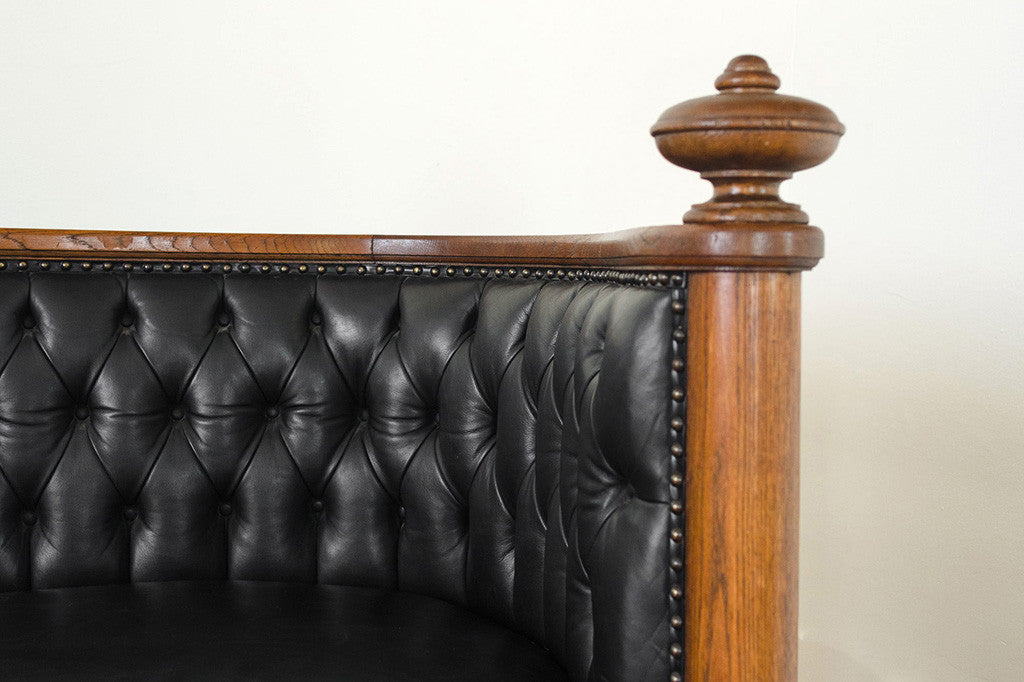 Oak & Leather Chesterfield