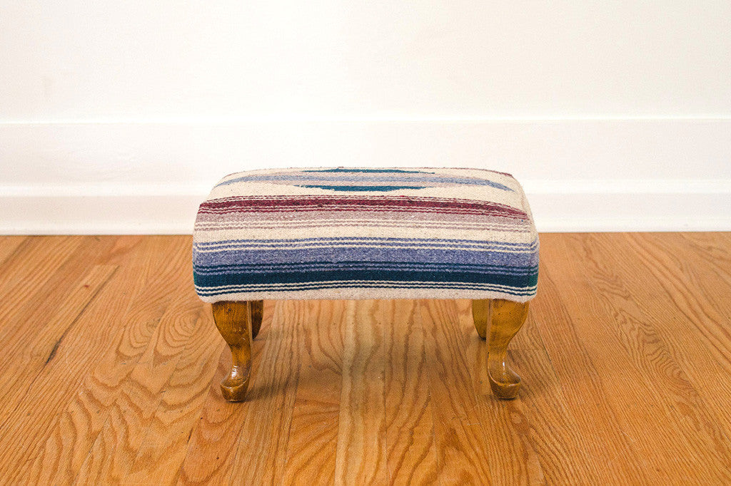 Saddle Blanket Footstool