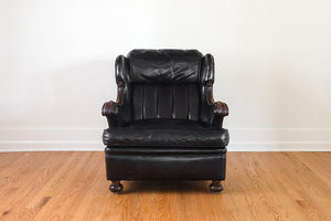 Black Leather Reading Chair