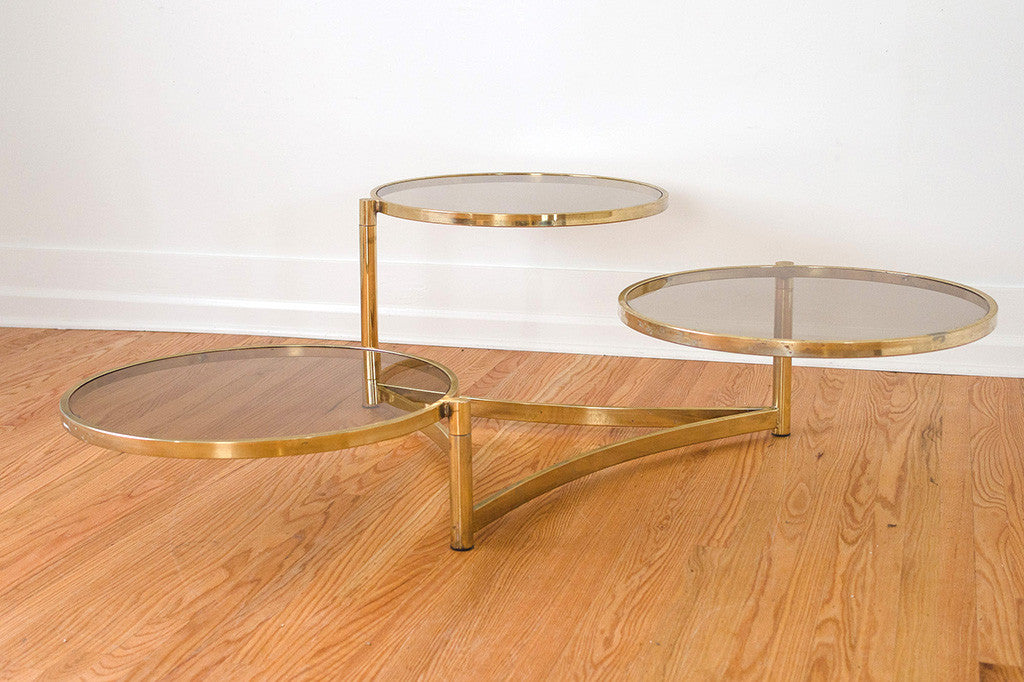 Geometric Brass Coffee Table
