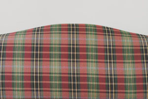 Plaid Camelback Sofa