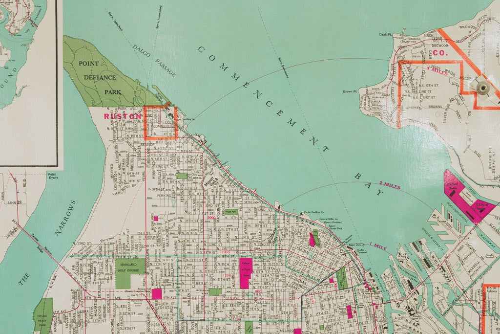 Tacoma Schoolhouse Map Homestead Seattle