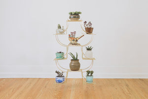 MCM Gold Plant Stand