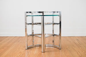 Chrome Geometric Table