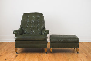 Leather Chair & Ottoman