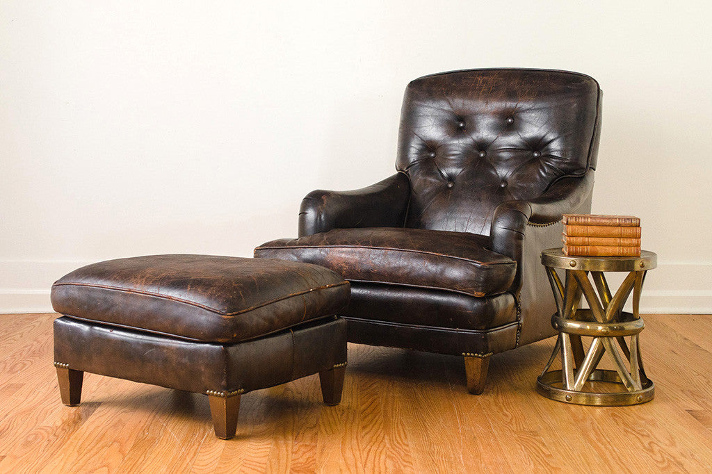 Leather Club Chair Amp Ottoman Homestead Seattle