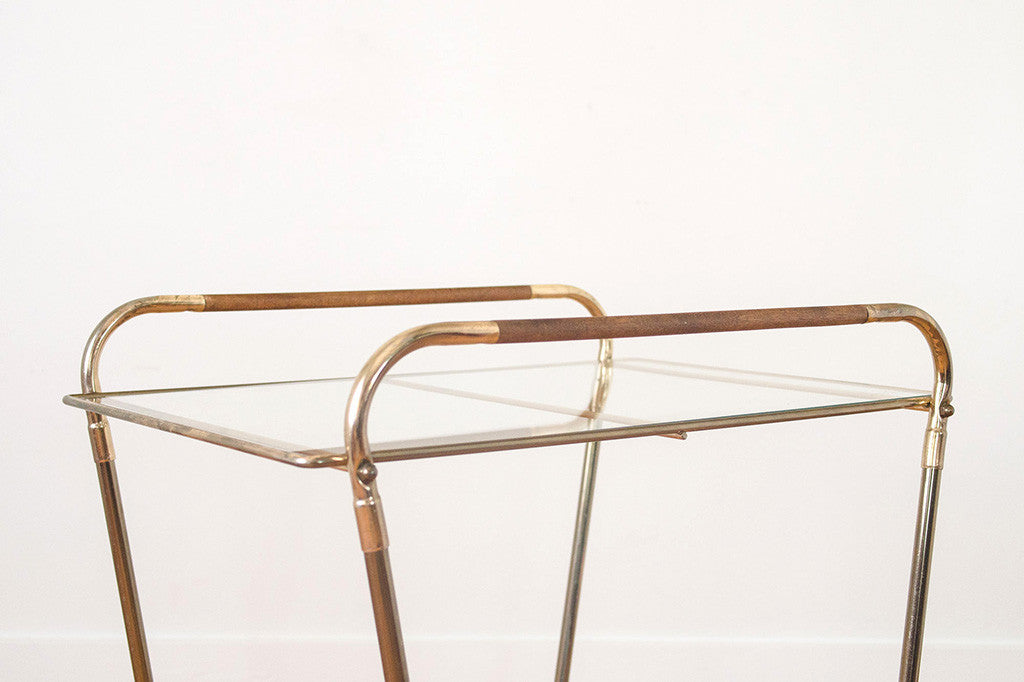 MCM Brass Bar Cart