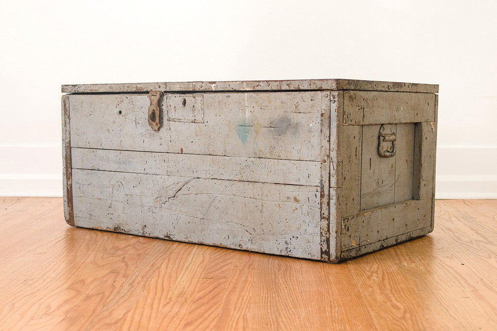 Painted Industrial Farmhouse Trunk