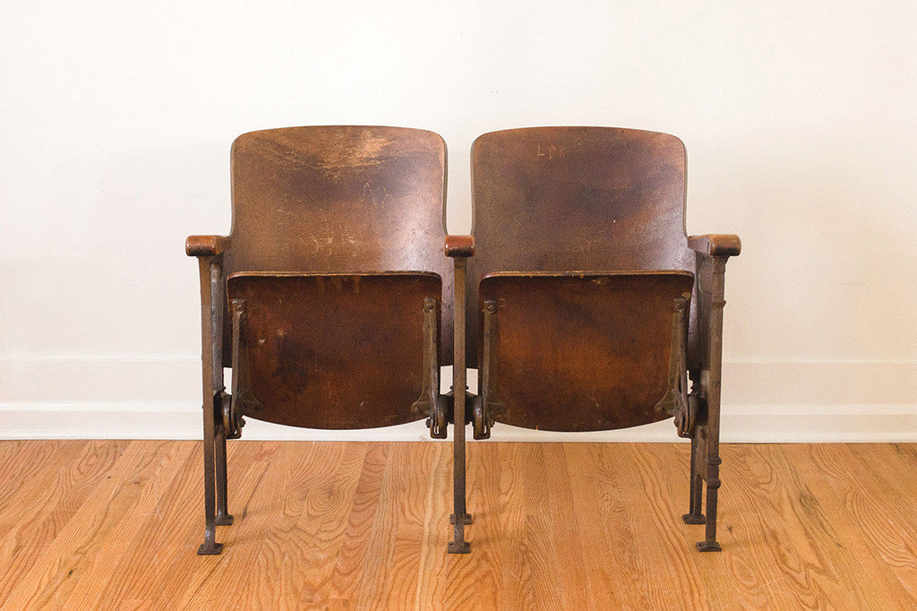 Antique Theater Chairs - Antique Theater Chairs - Homestead Seattle