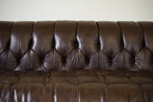 Bernhardt Leather Chesterfield