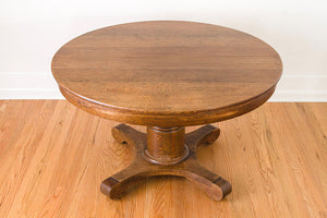 Quartersawn Oak Farm Table