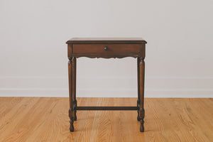 Traditional Walnut Side Table