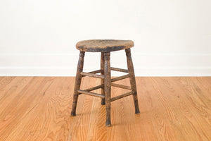 Wood Farmhouse Stool