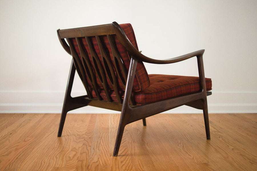 MCM Plaid Yugoslavian Chair