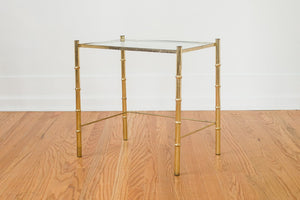 Brass & Glass Side Table
