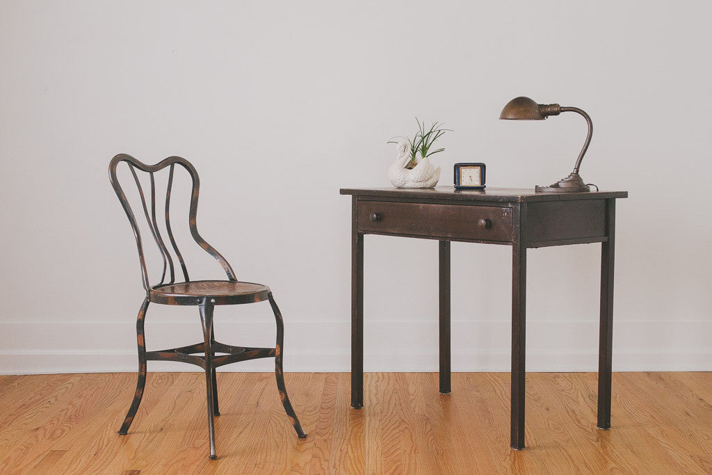 1930's Metal Writing Desk