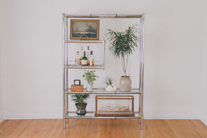MCM Chrome & Brass Shelf