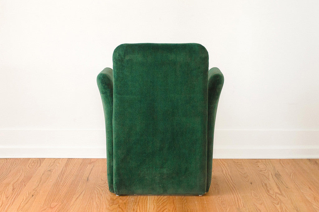 Mario Bellini Velvet Chairs
