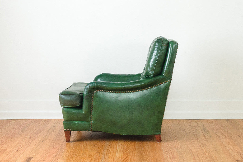 Attrayant Green Leather Club Chair