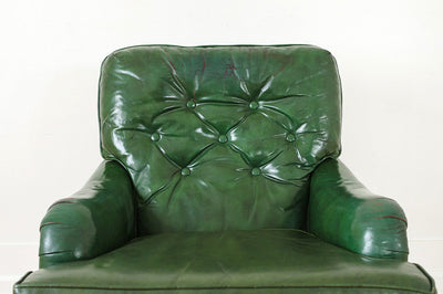 Terrific Green Leather Club Chair Gmtry Best Dining Table And Chair Ideas Images Gmtryco