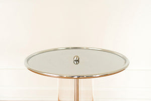 Chrome & Lucite Side Table