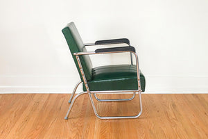 Chrome Deco Club Chairs