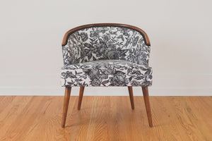 Mid Century Floral Chair