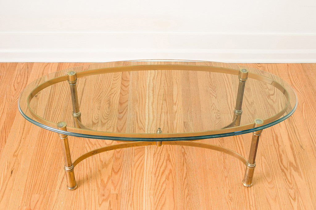 Brass Glass Coffee Table Homestead Seattle - Pb coffee table