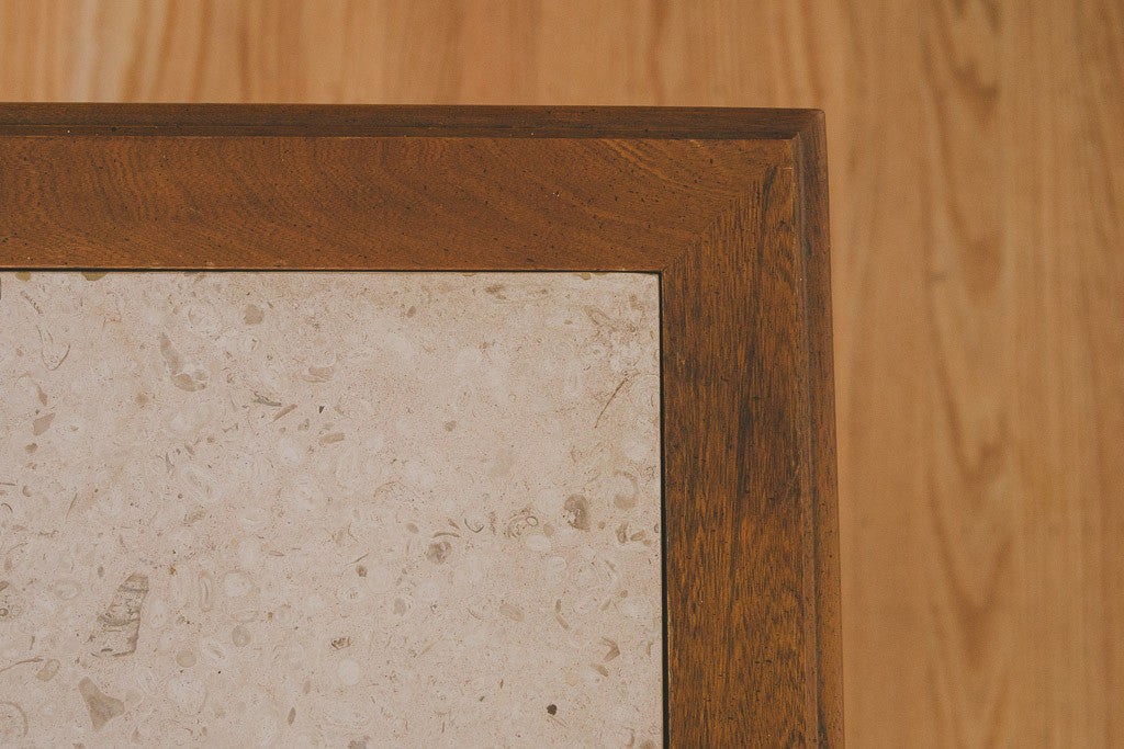 MCM Stone Top Side Tables