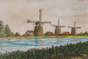 Original Dutch Windmill Painting