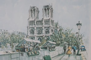 French Watercolor Prints