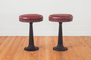 Iron & Leather Stools