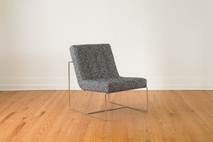 Chrome & Chevron Wool Chair