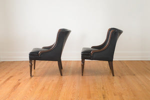 Vintage Tufted Slipper Chairs