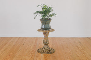 Carved Brass Side Table