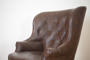 Drexel Leather Professor's Chair
