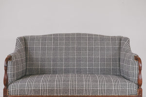 HS Collection Plaid Settee