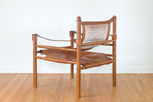 MCM Leather Safari Chairs