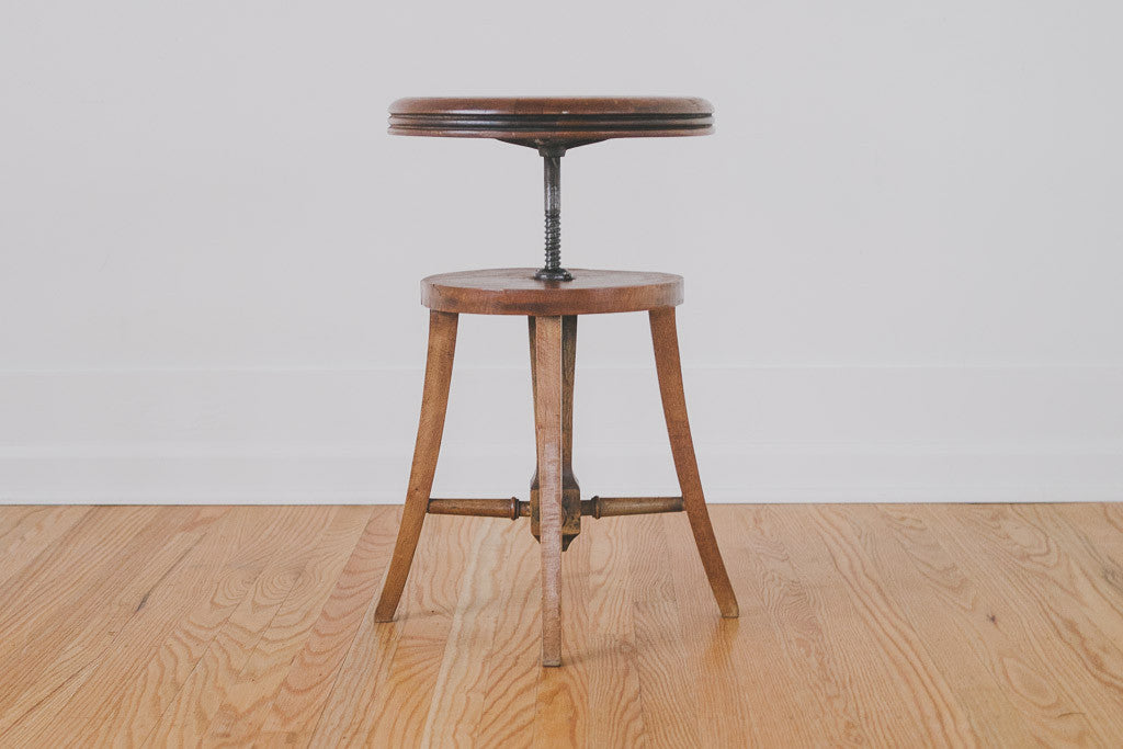 Mission Style Piano Stool