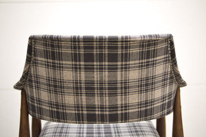 MCM Plaid Bar Chairs