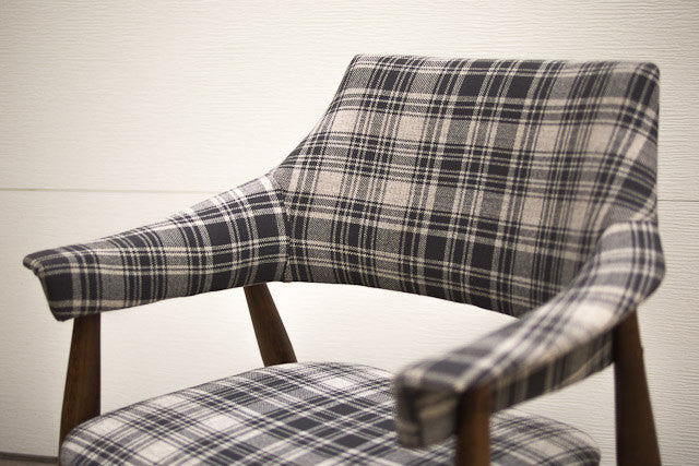 Beau MCM Plaid Bar Chairs