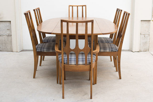 Broyhill Brasilia Plaid Dining Chairs