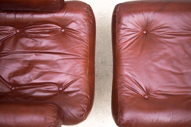 Mid Century Tubular Chair & Ottoman