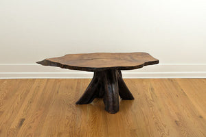Vintage Live Edge Slab Coffee Table