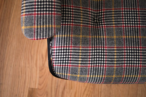 Plaid Eames Lounger & Ottoman