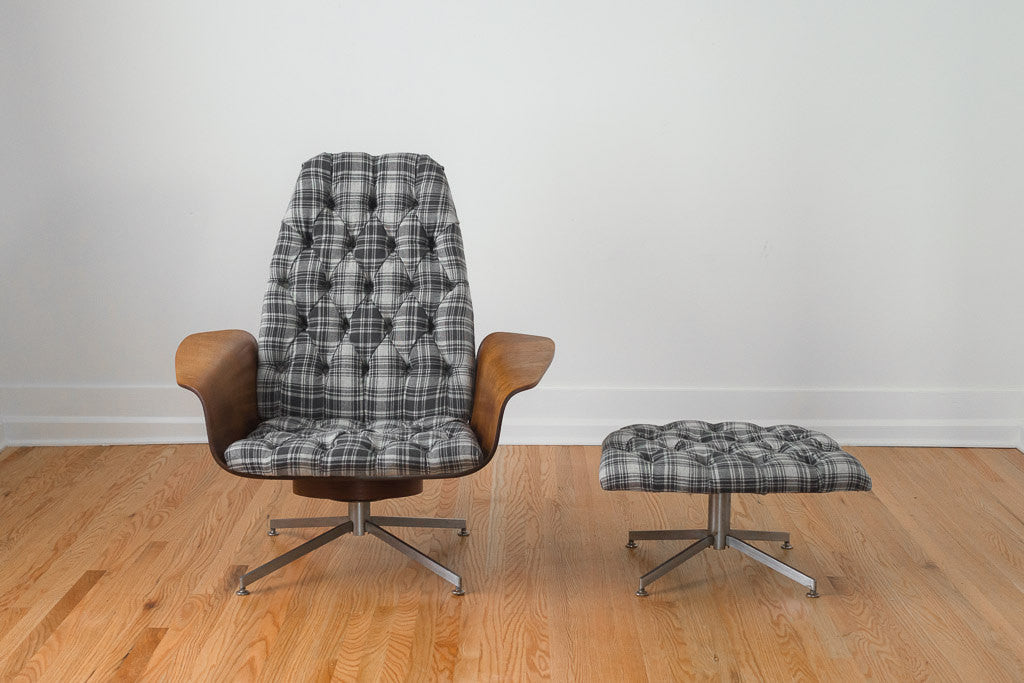 Plaid Mr Chair & Ottoman