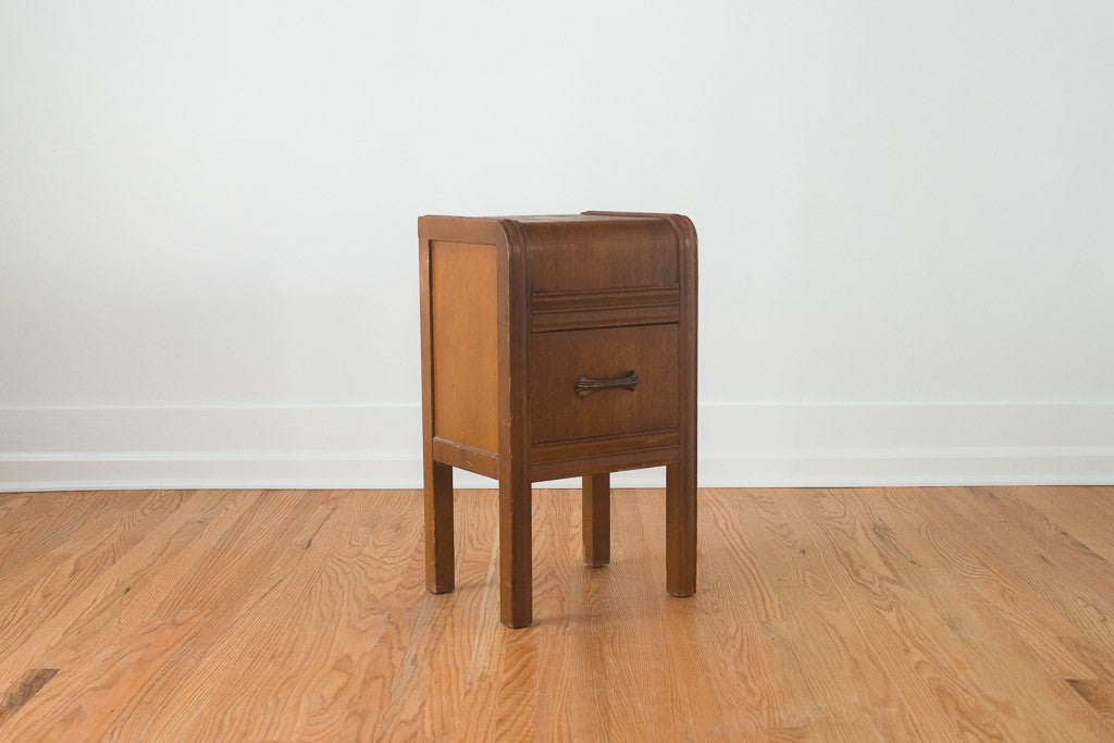 Art Deco Waterfall Nightstand Homestead Seattle